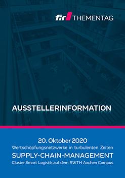 """Broschüre """"Ausstellerinformation"""" - Deckblatt"""
